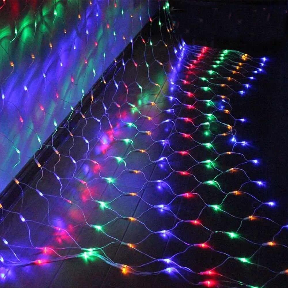 VINGO LED Lichternetz 2 2 Meter f/ür Weihnachten Deko Party Festen Lichter Netz mit 8 Lichtwechselprogramme Innen