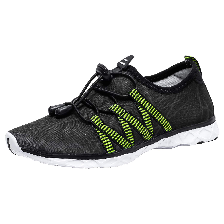 Dian Sen Girls & Boys Water Shoes Quick Dry Kids Swim Shoes Athletic Sneakers Casual Sport Beach Shoes (Toddler/Little Kid/Big Kid) (5 M US Big Kid, W12KIDSBK37) Black