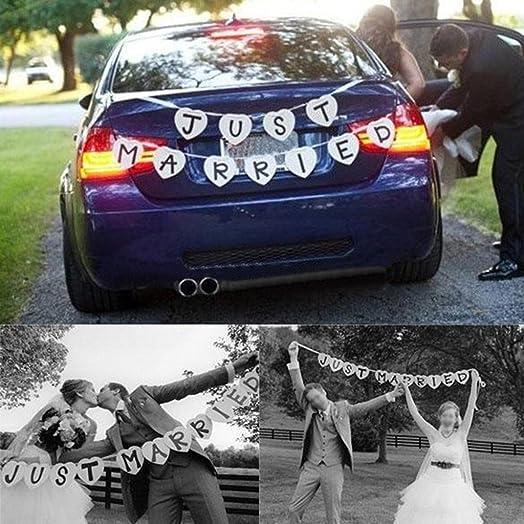 Just married wedding bunting banner wedding decoration amazon just married wedding bunting banner wedding decoration junglespirit Gallery