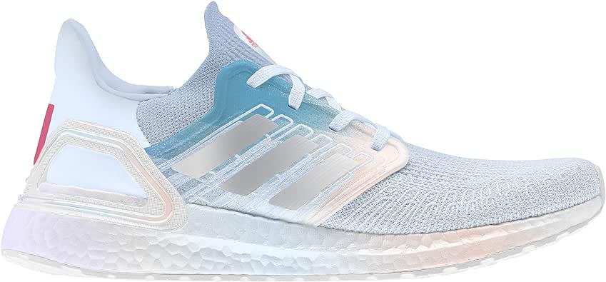 ADIDAS Ultraboost 20 Zapatilla para Correr en Carretera o Camino de Tierra Ligero con Soporte Neutral para Mujer Blanco Celeste: Amazon.es: Zapatos y complementos