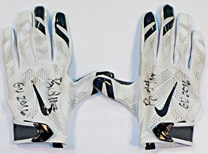 1ccd8aa6b40ba Ryan Griffin Houston Texans Autographed 2016 Game Used Nike Gloves ...