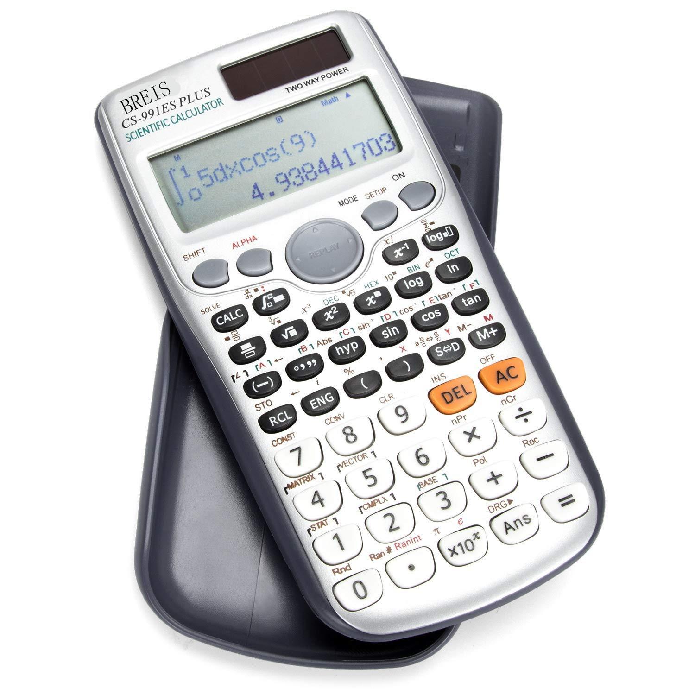 Scientific Calculator,BREIS TI 911ES Plus Solar Engineering Calculator, Calculators for Financial Accounting Math Function Algebra Construction Finance by BREIS