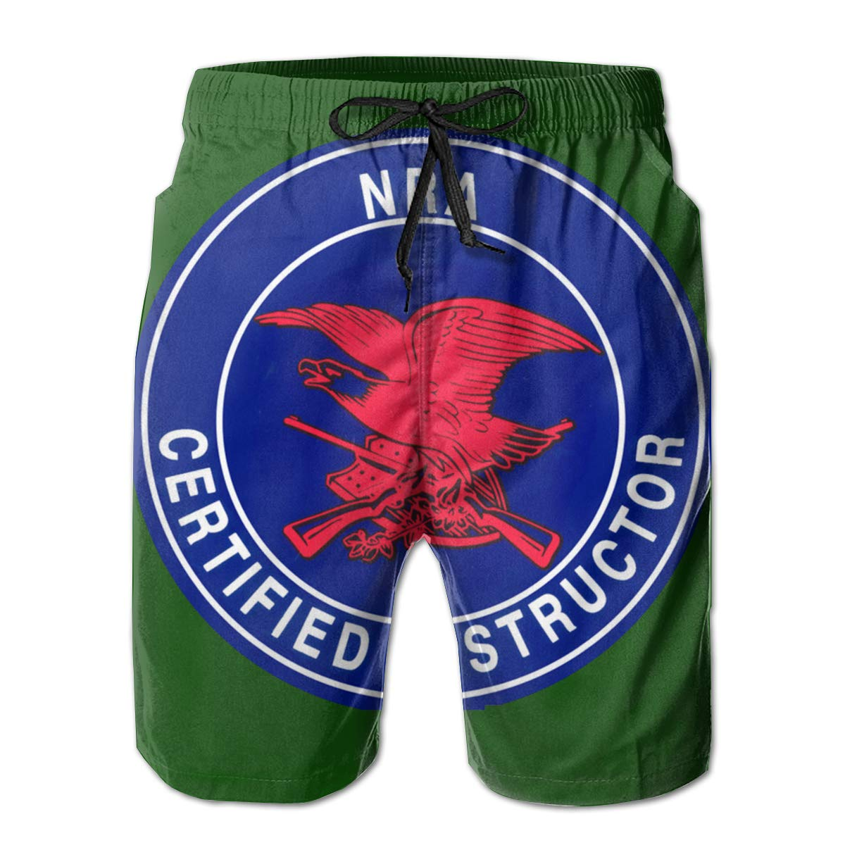 QKQ77 KK7 NRA Certified Instructor Mens Board Shorts,Casual Shorts,Beach Shorts Summer Boardshorts