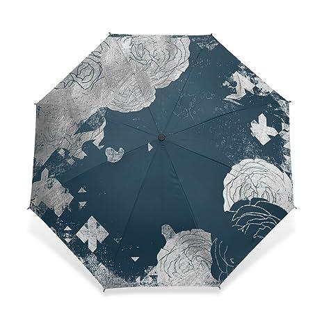 zoeo plegable compacta resistente al viento paraguas de viaje Vintage Moon Star