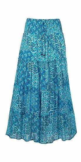 magasin en ligne 7b0ee 9b286 Coline - Jupe Longue Coton doublée
