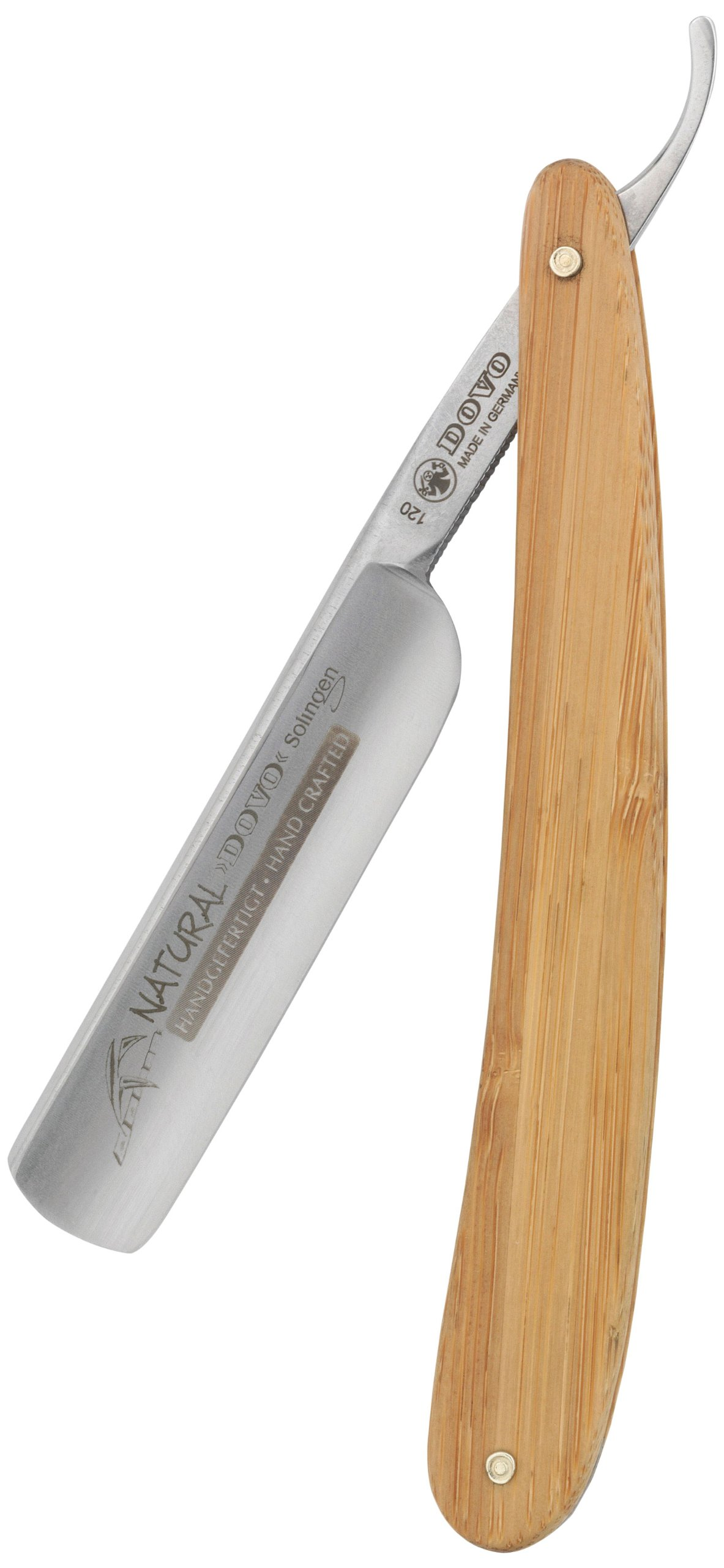 Dovo ''Natural'' Straight Razor, 5/8'', Carbon Steel, Full Hollow