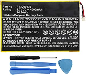 "MPF Products 4000mAh PT3090135 Battery Replacement Compatible with RCA Galileo Pro 11.5"" RCT6513W87, Viking Pro 10"" RCT6303W87, RCT6303W87DK Tablet"