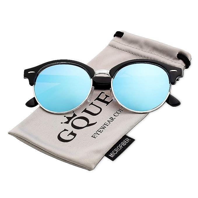 ca8a770af1 GQUEEN Bocina enculado Medio marco gafas de sol polarizadas GQ51:  Amazon.es: Ropa y accesorios