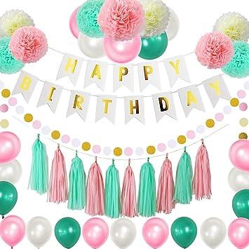 Amazon.com: Zica - Kit de decoración de fiesta de cumpleaños ...