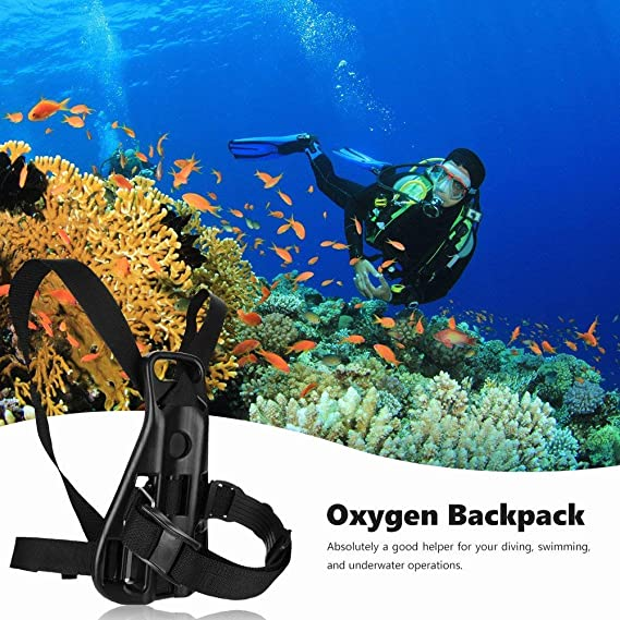 Swimming Oxygen Cylinder Tank Back Holder Mount Diving Scuba Backpack Support