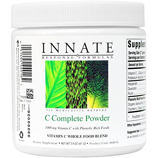 INNATE Response Formulas - C Complete Powder, Unique and Gentle Powdered Vitamin C Formula, 30 Servings (81 grams)