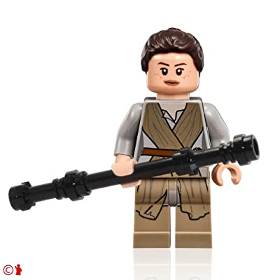 LEGO Star Wars Minifigure - Rey with Hairpiece and Black Staff (75099): Toys & Games [5Bkhe1001495]