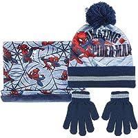 Cerdá - Conjunto Gorro Bufanda y Guantes de Spiderman - Licencia Oficial Marvel, blue, talla única, 2200005858