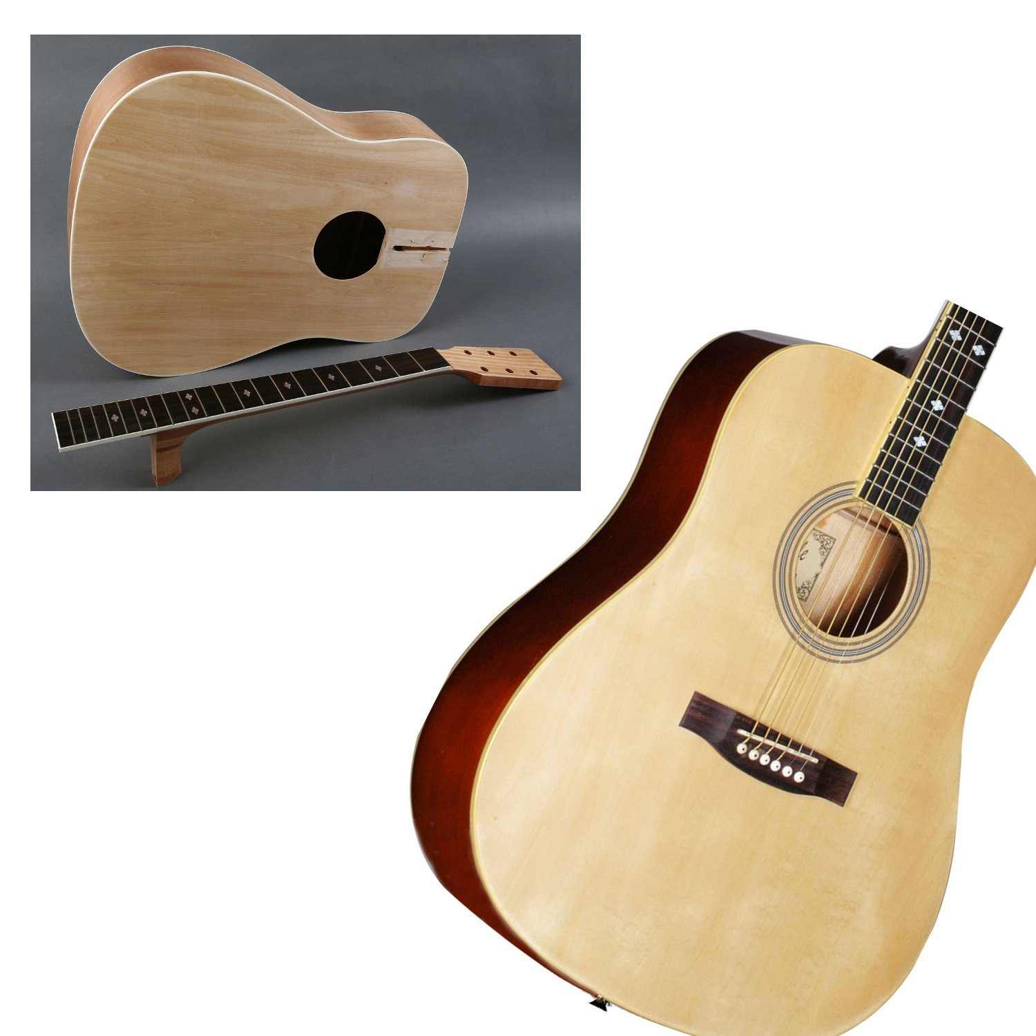 diy builder acoustic guitar kit customize and make