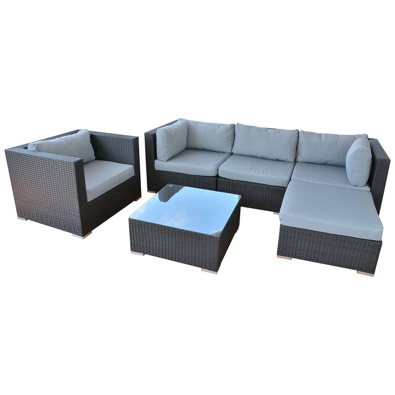 SSITG Polyrattan Lounge Sitzgruppe Gartenmöbel Garnitur Poly Rattan ...