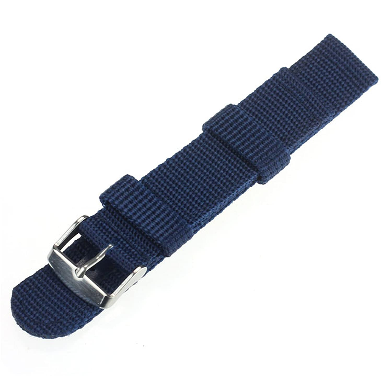 bsgsh 18 / 20 mmナイロン手首時計バンドストラップwithステンレススチールBuckle forスポーツ、Dailywear、ギフト – Choice Of Color &横幅  ブルー 18mm B071CRNKQ1