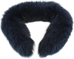 S Max Mara Womens Ecru Fox Fur Cube Collection Collar