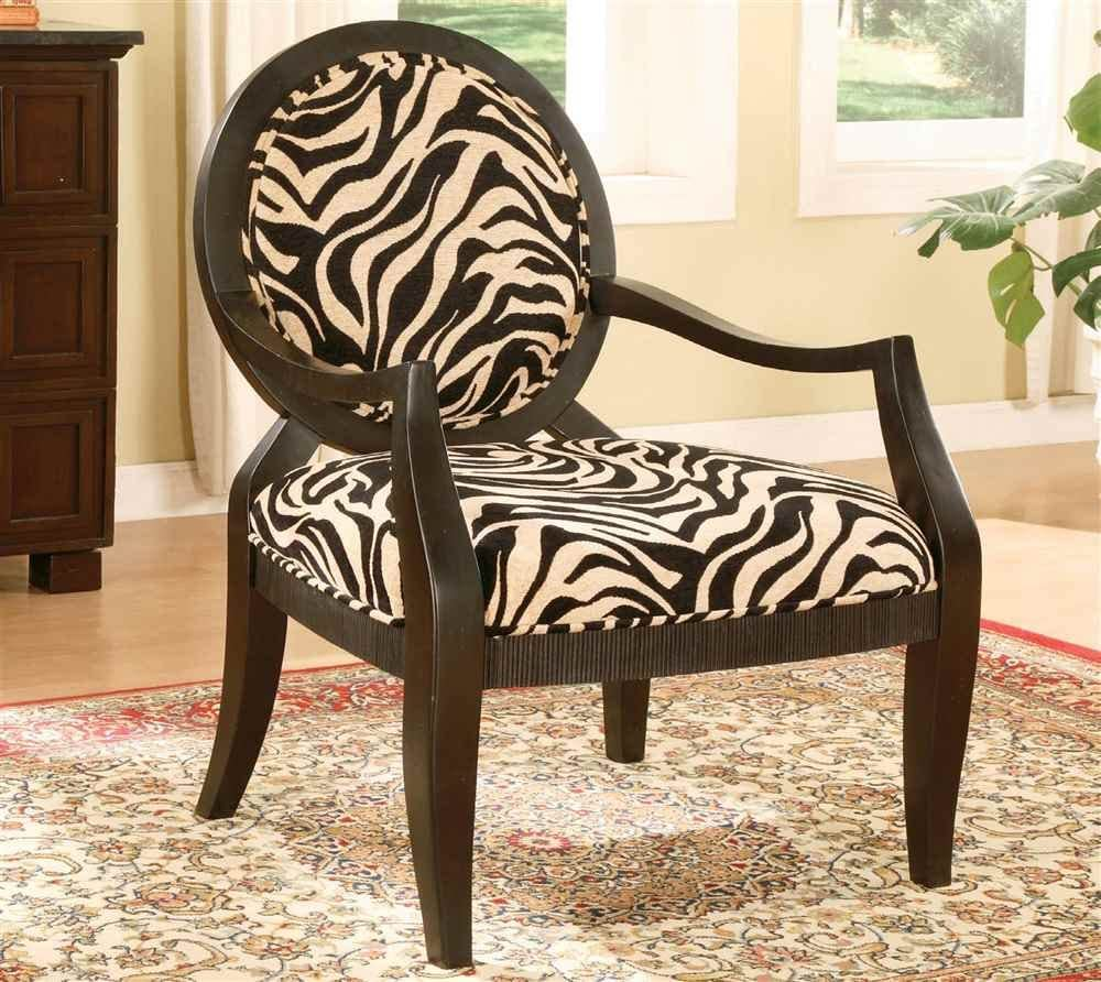 Amazon.com: ADF Accent Chair with Zebra Print in Black Finish