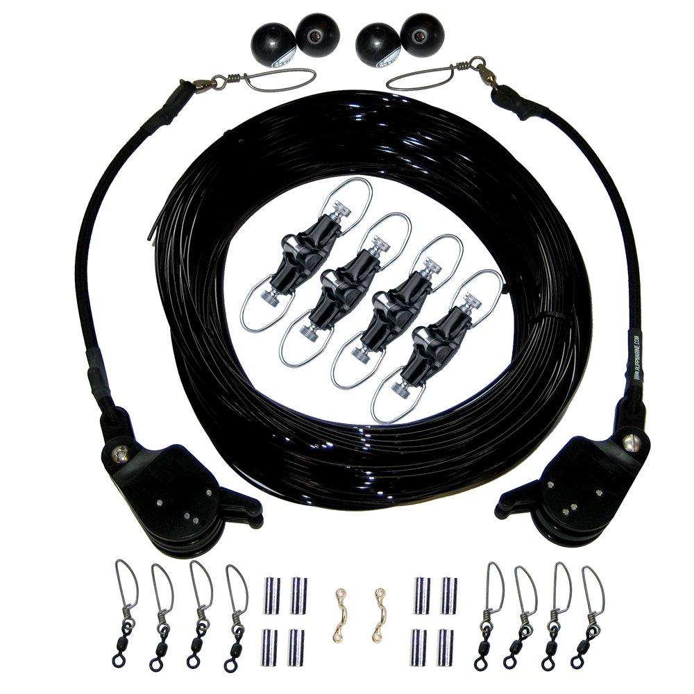 Rupp Double Rigging Kit w/Lok-Ups & Nok-Outs - 260' Black Mono by Rupp Marine   B019YLVHIE