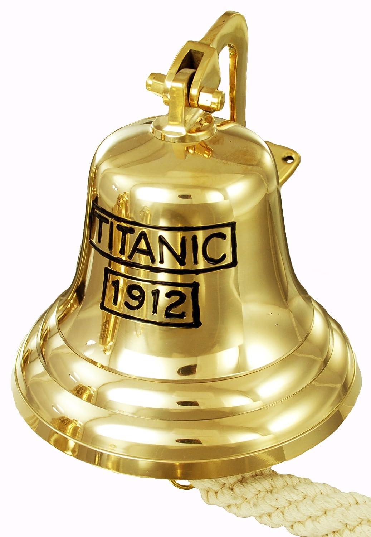 Buckingham Titanic 1912 Telefono Montaggio a Parete in Ottone Massiccio Pub/Porta/Last ordini/Ship Bell, Oro, 20 cm 20cm B & I International Ltd. 30762