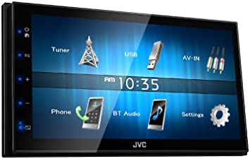 caraudio24 JVC KW-M24BT 2DIN Bluetooth MP3 AUX USB Autoradio f/ür Mercedes SLK R171 2004-2011