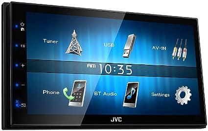 JVC KW-M24BT 50W Bluetooth Negro Receptor Multimedia para Coche - Radio para Coche (