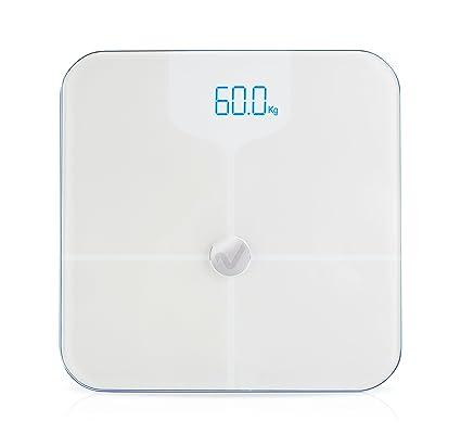 Ivyhealth- Báscula de Baño Para Medir La Grasa Corporal con Bluetooth (negro)