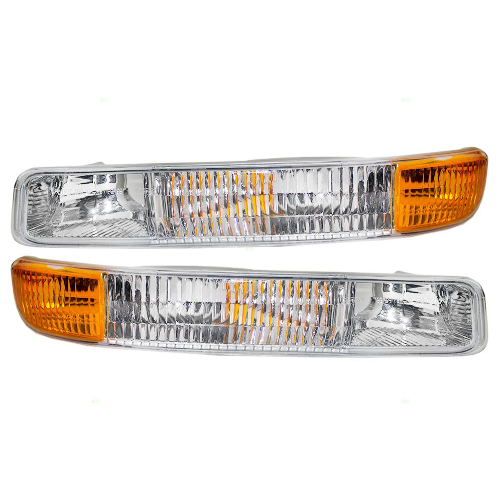 Driver and Passenger Park Signal Front Marker Lights Lamps Lenses Replacement for GMC Pickup Truck SUV 15199560 15199561 AUTOANDART.COM 4333020435