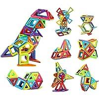 مجموعة مكعبات بناء مغناطيسية ثلاثية الابعاد بالوان قوس قزح للتربية والترفيه والتعليم من انو تيك للاولاد والبنات، 68 قطعة