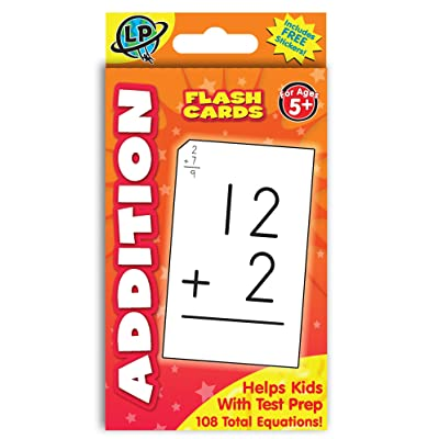 Eureka Addition Math Flashcards for Kids, 5.25'' W x 3.25'' H: Office Products