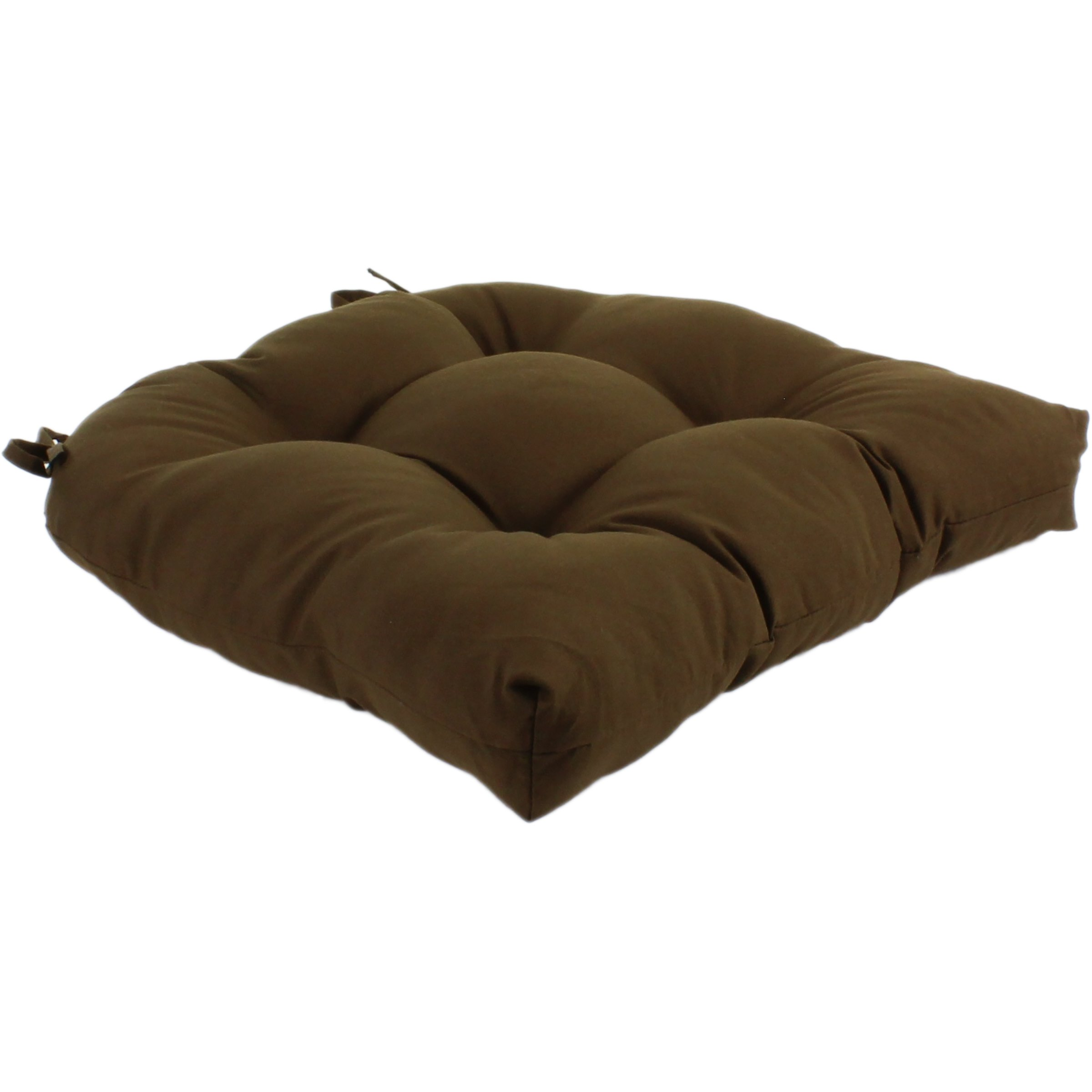 College Covers 15218023UDC Indoor/Outdoor Seat Patio D Cushion, Brown