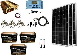WindyNation 300 Watt Solar Panel Kit
