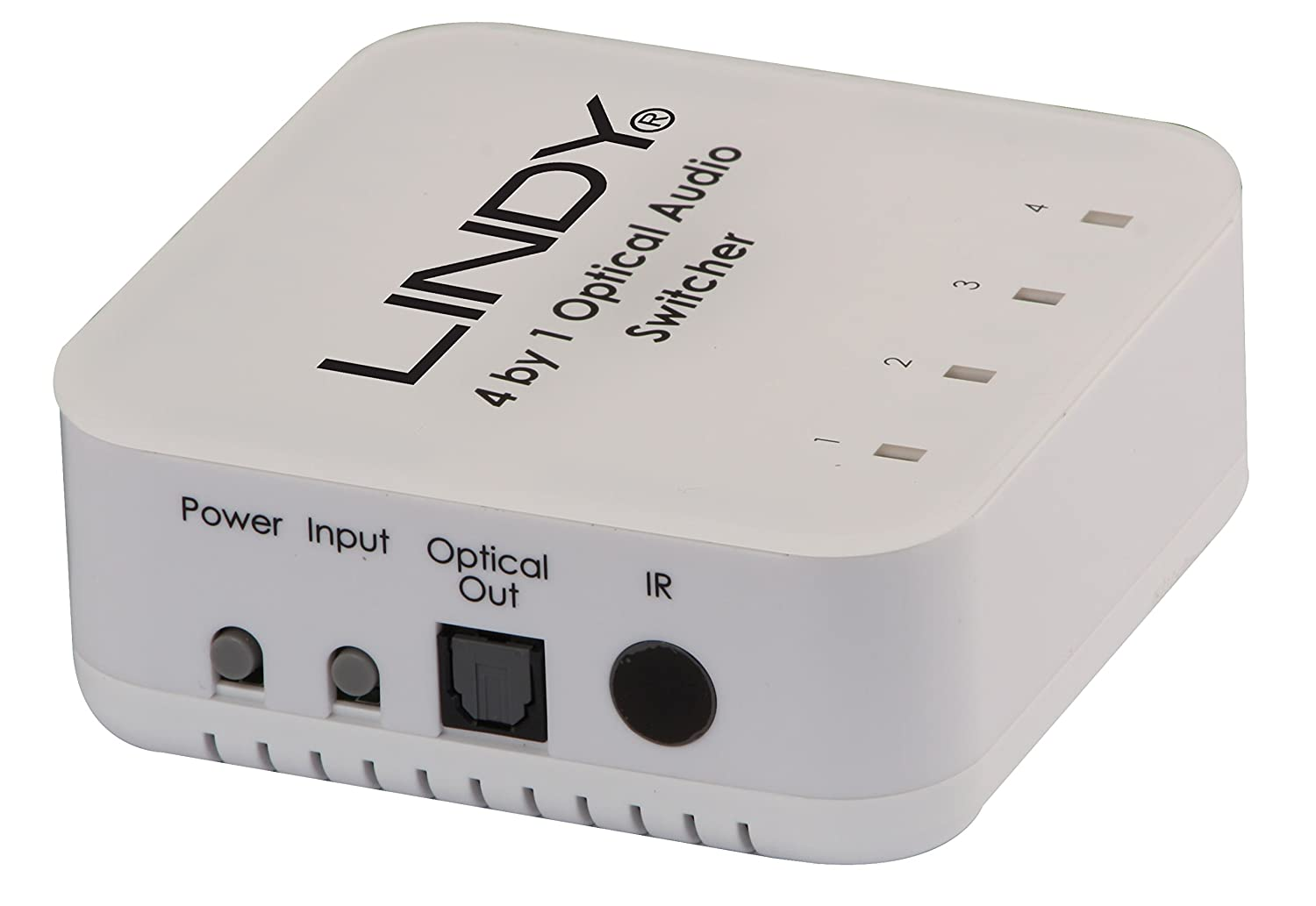 amazon com lindy 4 way toslink digital optical audio switch 70416 computers accessories