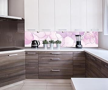 Cocina Pared Trasera Elegante Motivo Floral Design M0998 240 x 50 cm (W x H) - 3 mm de Espuma ...