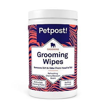 Petpost | Toallitas Limpiadoras para Perros - Toallitas Grandes y Perfumadas con Aroma a Flor de
