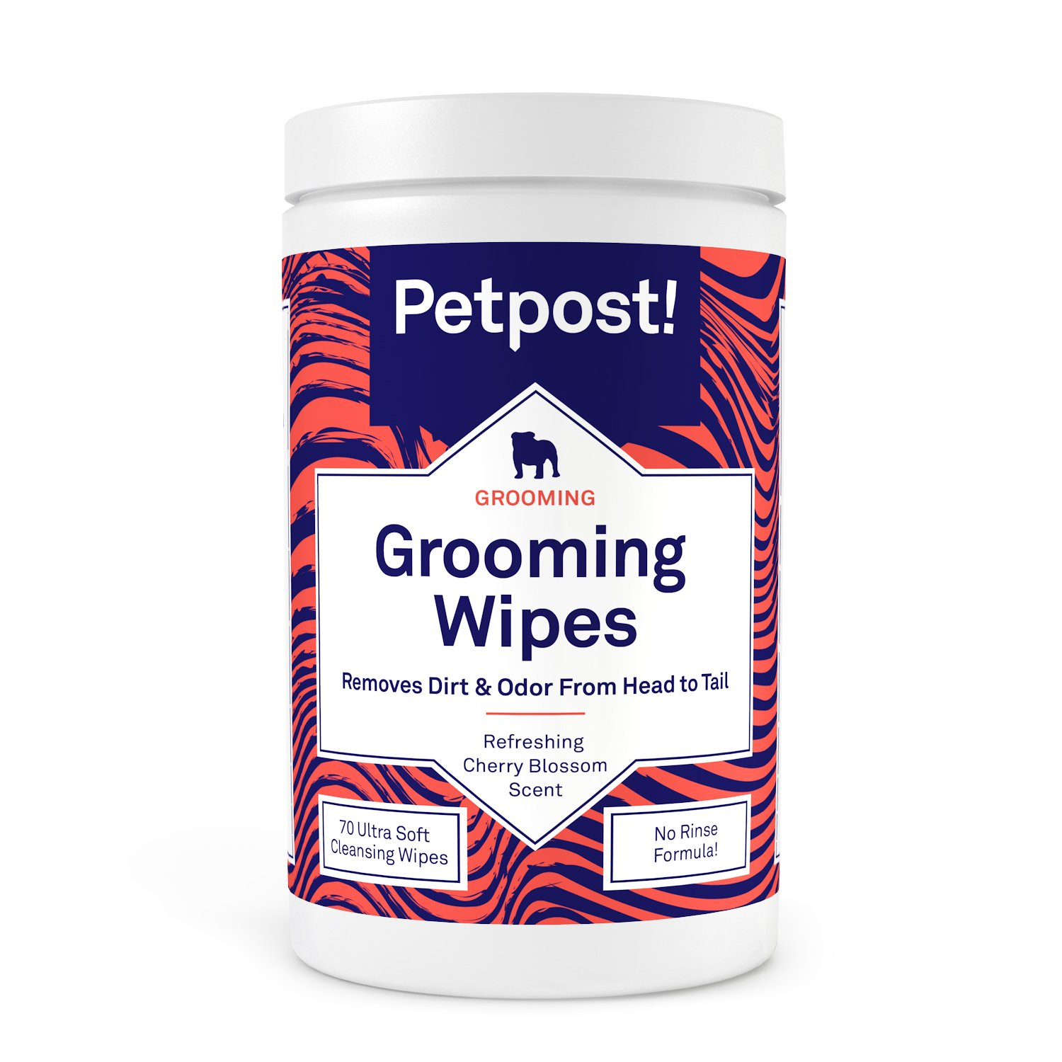 Petpost | Grooming Wipes for Dogs - Large, Deodorizing Wipes with Cherry Blossom Scent - 70 Ultra Soft Cotton Pads in Cleansing Solution (Cherry Blossom)