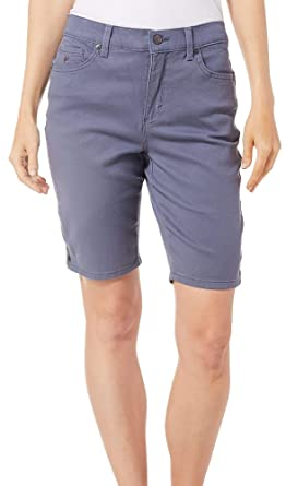2c897a0398 Image Unavailable. Image not available for. Color: Gloria Vanderbilt Petite  Amanda Bermuda Denim Shorts ...