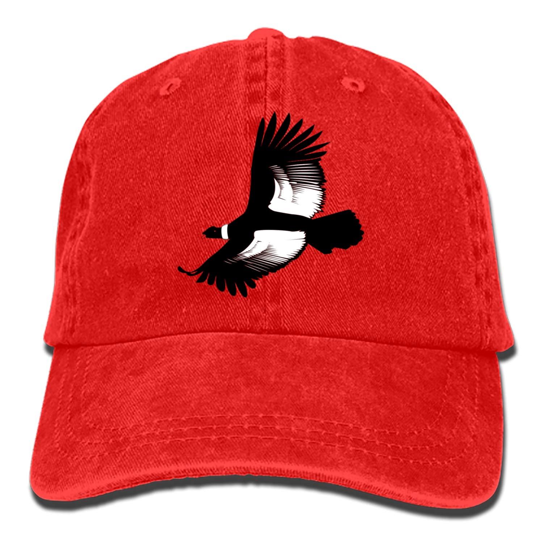 SHUANGRENDE Men Women Camp Hair Bald Eagle Cotton Denim Baseball Hat Adjustable Street Rapper Hat