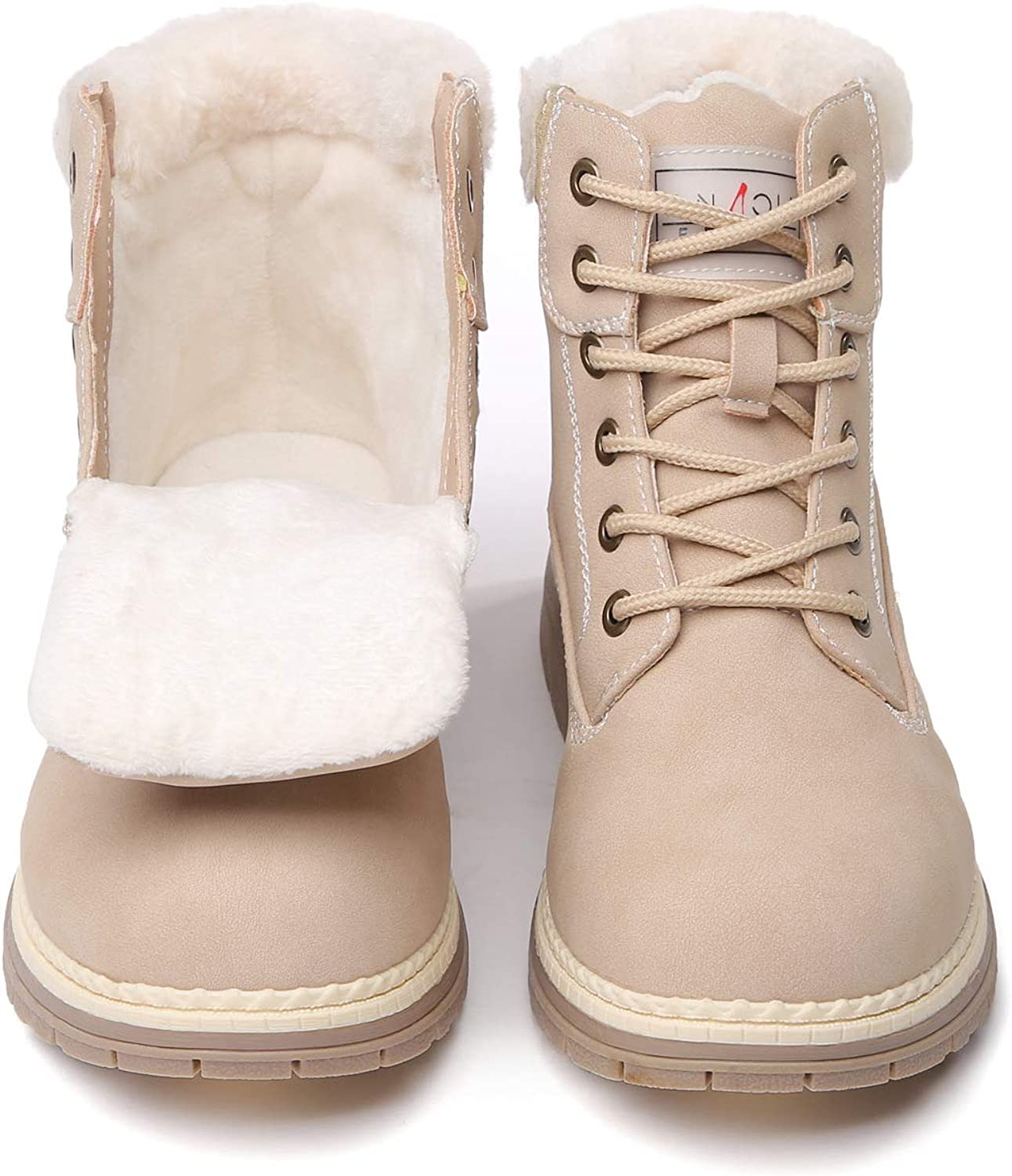   ANJOUFEMME Combat Work Hiking Boots for Women   Hiking Boots