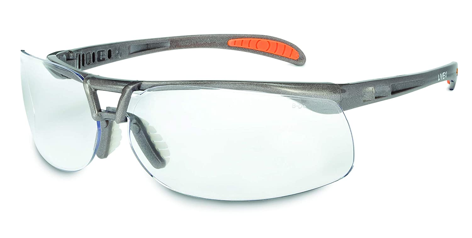 Pack of 10 Volume Gray Capacity Standard Honeywell S4211HS Uvex Prot/ég/é Safety Glass with Sandstone Frame
