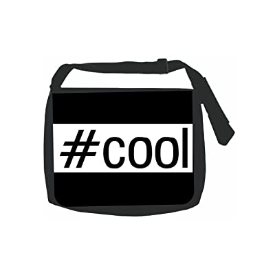 #Cool - Hashtag - Black School Shoulder Messenger Bag