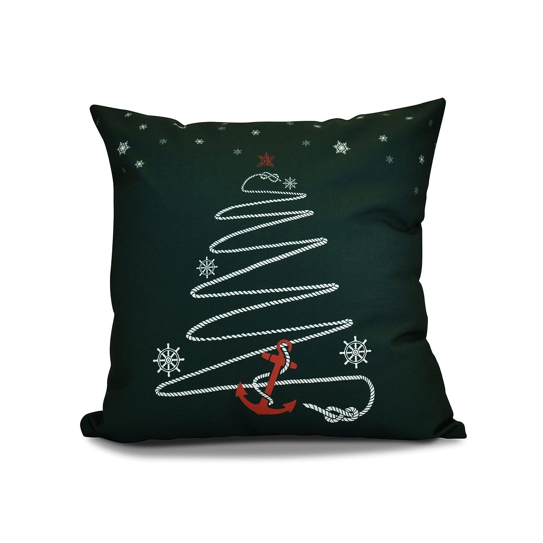 E by design PHGN642BL29-26 26 x 26 inch, Decorative Holiday Pillow, Geometric Print, Aqua