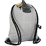 LOCTOTE Flak Sack SPORT - Lightweight Theft-Resistant Drawstring Backpack   Anti-theft   Theft-Proof Travel Backpack   Lockable   Slash-Resistant