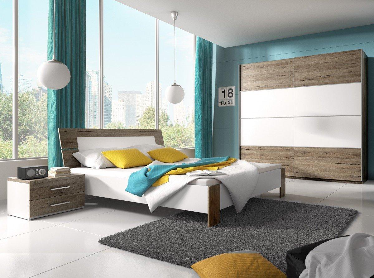 Dreams4Home Schlafzimmer Set \'Rico\' - Schwebetürenschrank, 2x NaKo´s ...