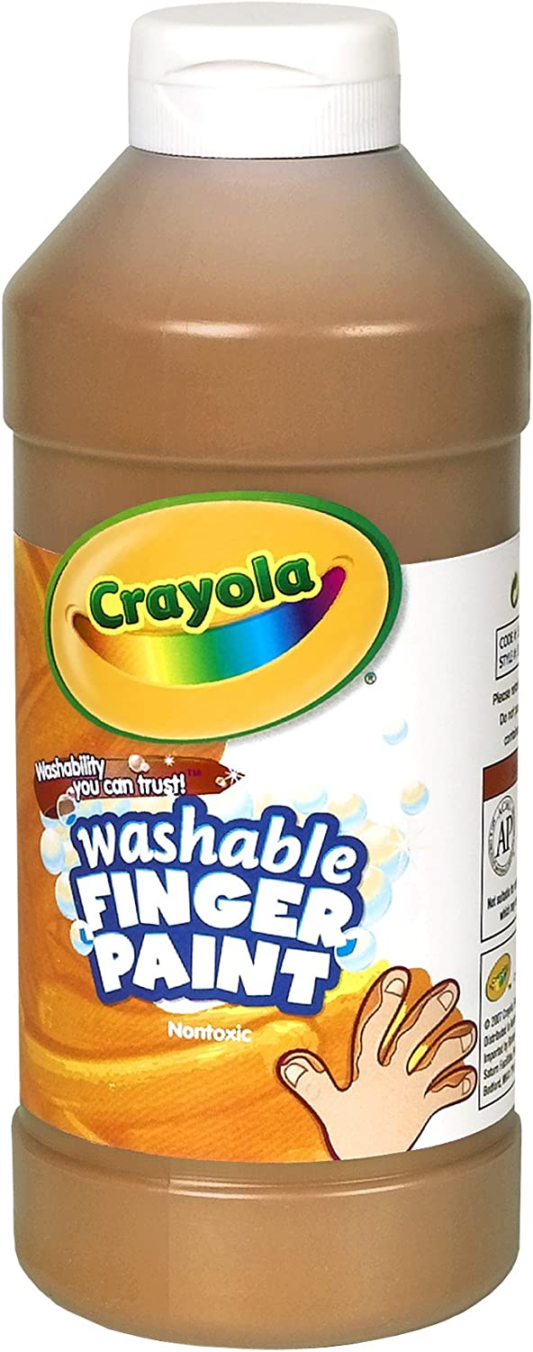 Crayola Fingerpaint, Brown, 32 Ounces, Washable Kids Paint, Ages 3+: Toys & Games