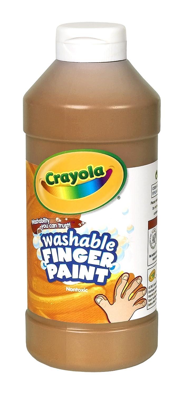 B0007PC8N0 Crayola; Washable Fingerpaint; Art Tools; 32-Ounce Plastic Squeeze Bottle; Bright, Bold Colors; Brown 718pZpSeUrL