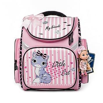 Amazon.com : JJSSGJBB Student backpack Children Cartoon Cat ...