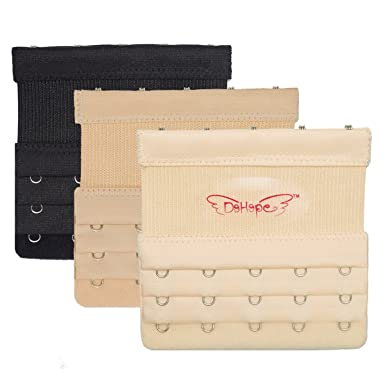 086c7141b2427 3pcs Elastic Bra Extender Strap 5 Hook 3 Rows 3 4in Plus Size Bra Extension  Band  Amazon.co.uk  Clothing