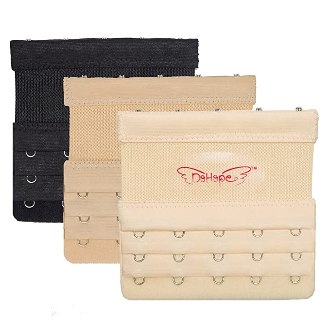 DoHope Extensores de Sujetador Para Mujer 5 Ganchos 3 Filas de Sujetador Extensor de Elástica (