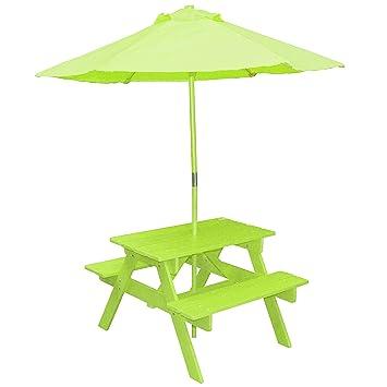 Lifetime Petit Salon DE Jardin + Parasol pour Enfant en Bois ...